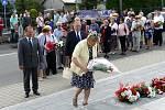 Pieta u Památníku životické tragédie, sobota 3. srpna 2019.