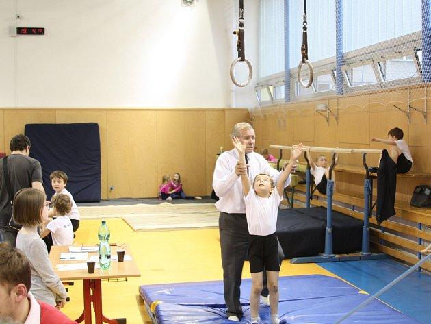 Okresní přebor malých gymnastů v Havířově.