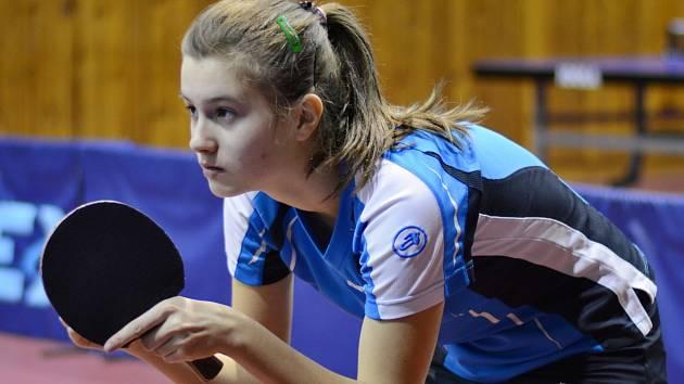 Nikita Petrovová, mladá havířovská naděje stolního tenisu.