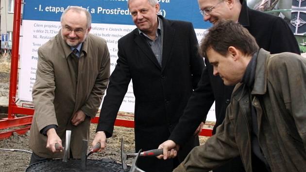 Slavnostní zahájení stavby kanalizace v Havířově