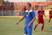 Z pohárového utkání Havířov (v modrém) - Třinec.