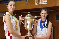 Zlatá děvčata z ME do 16 let. Anežka Kopecká a Natálie Rašková.