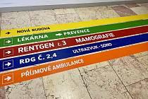 Karvinská hornická nemocnice má nově centralizovaný příjem pacientů. Duben 2021.
