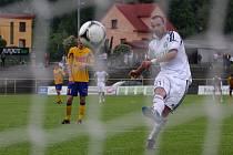 Vítězná trefa Vladimíra Mišinského z penalty.