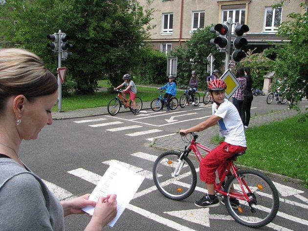 Menší dopravní hřiště MŠ Místní v centru města.