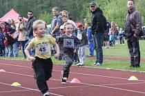 Nejmladší běžci Čokoládové tretry v Havířově.
