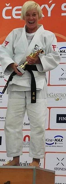 Trenérka dětí vBaníku může jít svým svěřencům příkladem, jak se má judo dělat.