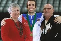 Radek Štěpánek s rodiči.