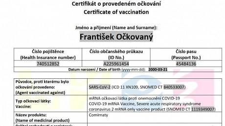 Vzor certifikátu.