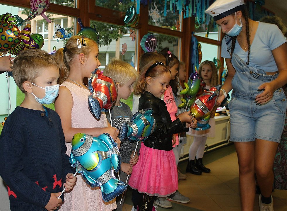 Na ZŠ Mendelova přivítali 1. září nové školáky  po námořnicku.