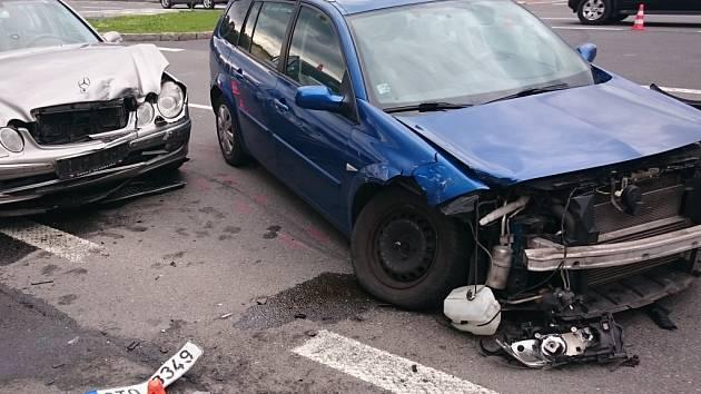 Dopravní nehoda na Hlavní třídě v centru Havířova.