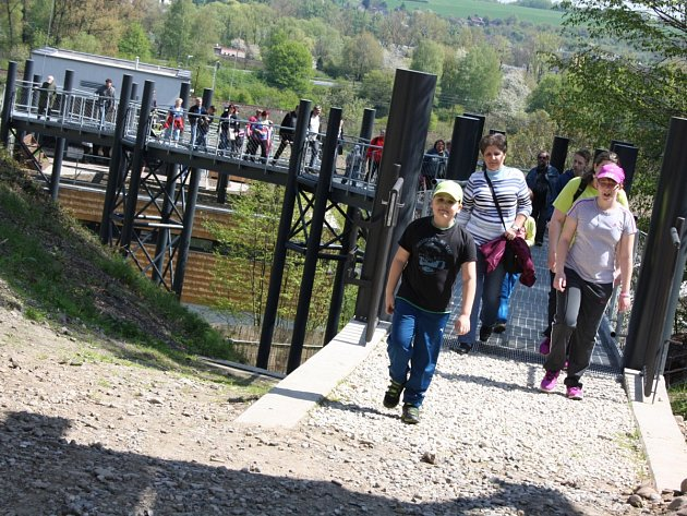 Slavnostního otevření Archeoparku Chotěbuz, který v sobotu přilákal stovky lidí z celého regionu.