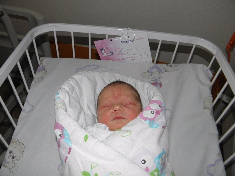 Adelka Bigasová se narodila 4. října paní Janě Špačkové z Karviné. Po porodu miminko vážilo 3080 g a měřilo 48 cm.