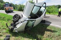 Nehoda na Rychvaldské ulici v Bohumíně.