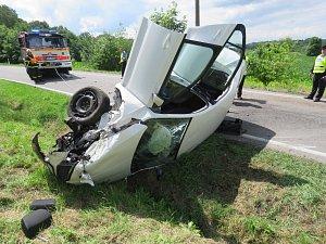 Nehoda na Rychvaldské ulici v Bohumíně