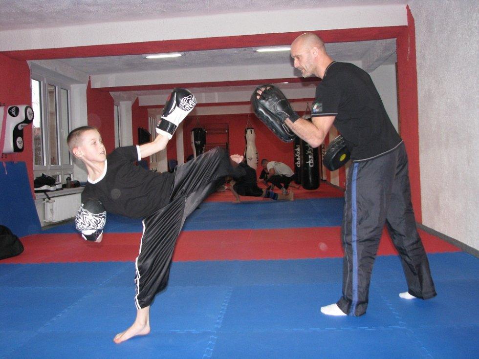 Tělocvična bojových sportů.