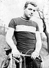 Václav Pěgřimoč, vůbec první závodník oddílu cyklistiky TJ Důl Čs. pionýr Petřvald (1958).