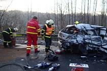 Zásah záchranářů u dopravní nehody v Karviné.