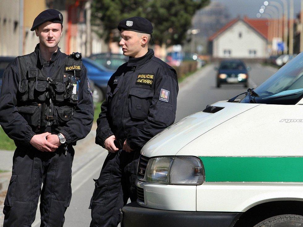 Policejní hlídka. Ilustrační snímek.