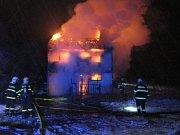 Požár rodinného domu v Rychvaldě.