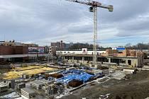 Záběry ze stavby nového orlovského náměstí.