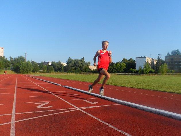 Michal Pinkas - letošní největší hvězda atletické Slavie.