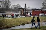 Areál Lodičky v parku Boženy Němcové, 27. března 2021 v Karviné.