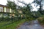 Následky větrné smrště v Karviné.