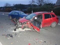 Následky havárie v Petřvaldě.