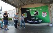 Oslavy karvinského titulu na karvinském Masarykově náměstí.