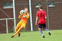 Vladimír Neuman zachytal v poháru spolehlivě a gól nepustil.