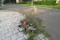 Místo dopravní nehody v Havířově-Prostřední Suché.
