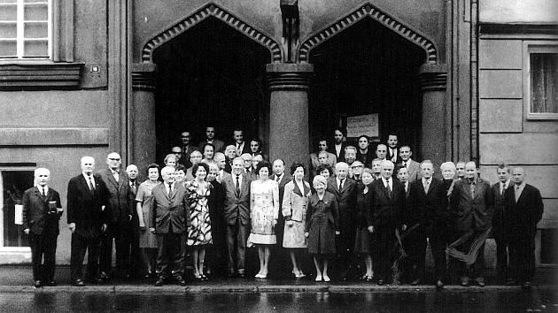Setkání kronikářů PZKo v Českém Těšíně v říjnu 1976.