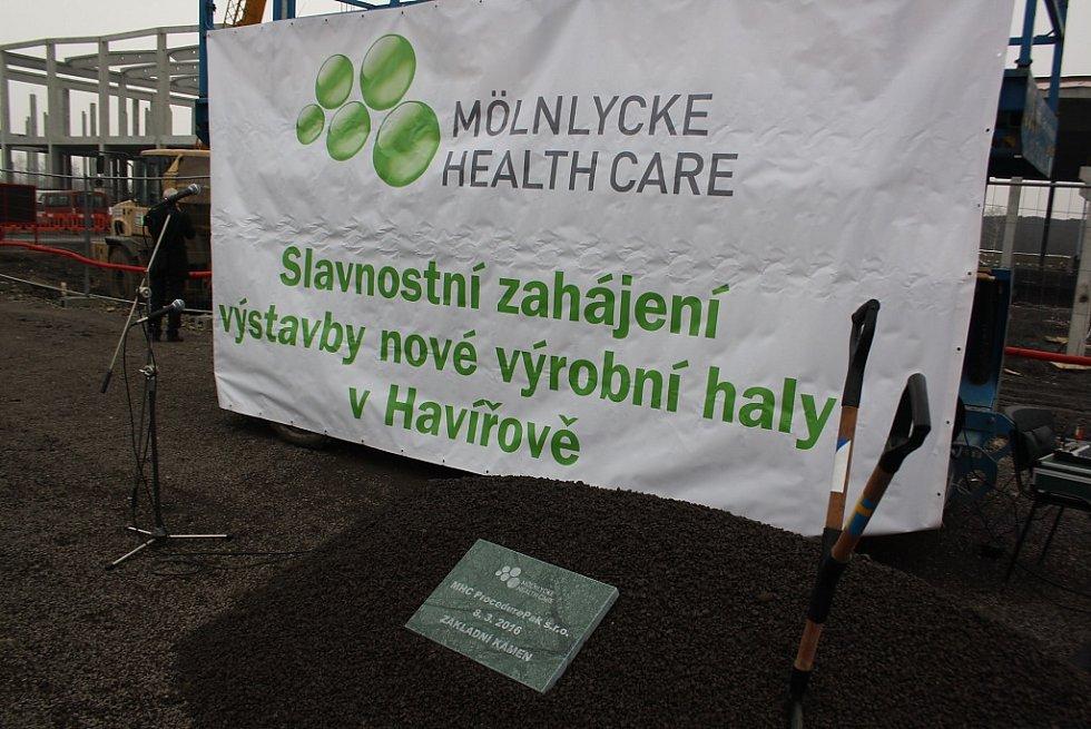 Slavnostní zahájení stavby Mölnlycke Health Care v Havířově-Dolní Suché.