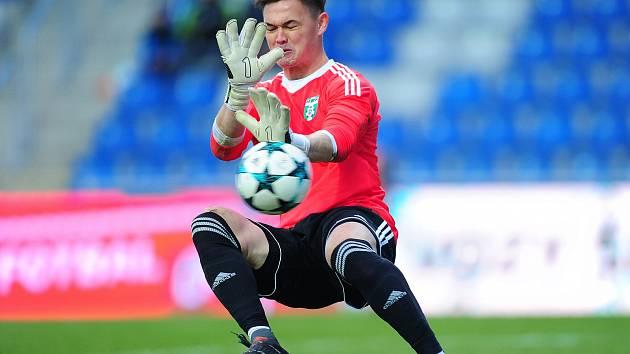 Hrdina utkání, karvinský gólman Patrik Le Giang.