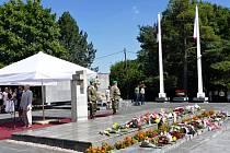 Pietní akt u Památníku životické tragédie v Havířově.