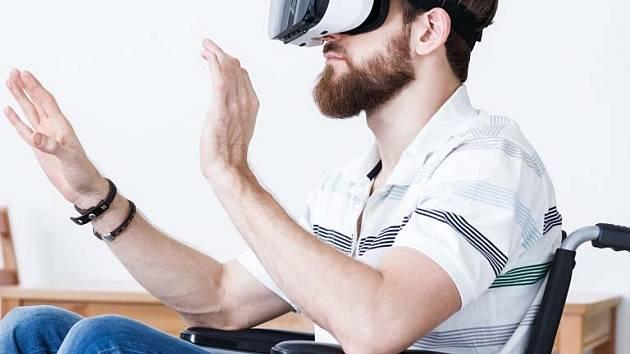 Virtuální rehabilitace. Ilustrační foto.