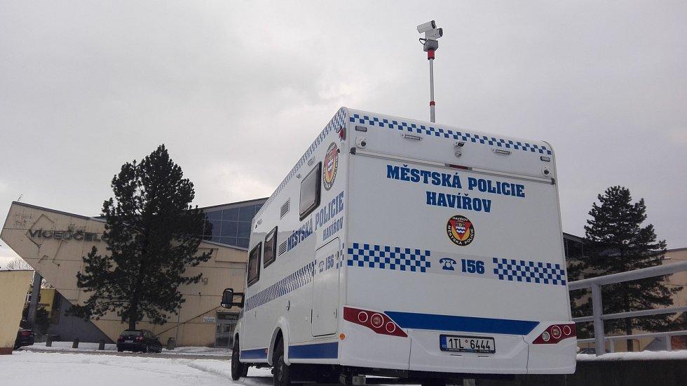 Mobilní služebna havířovské městské policie. Ilustrační foto.