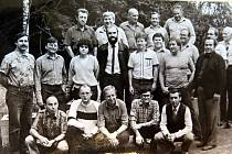 Čtvrtletní porada členů BSP mechanických dílen ve Štole v Těrlicku dne 14. září 1988.