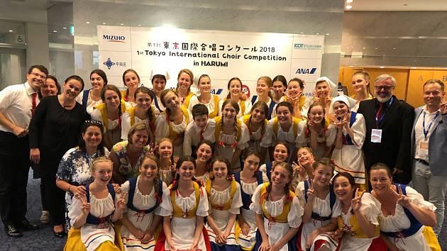 Karvinský soubor Permoník v Japonsku.
