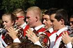V lázeňském parku v Karviné-Darkově koncertoval v úterý odpoledne německý mládežnický dechový orchestr z německého Biberachu.