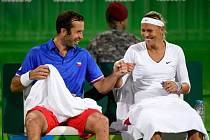 Radek Štěpánek a Lucie Hradecká svůj první duel na olympiádě v Riu zvládli.