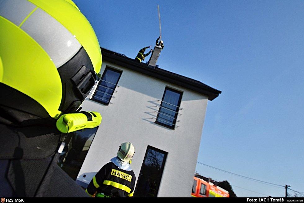 Hasiči pomáhali při záchraně puštíka, který se dostal do nepoužívaného komína.