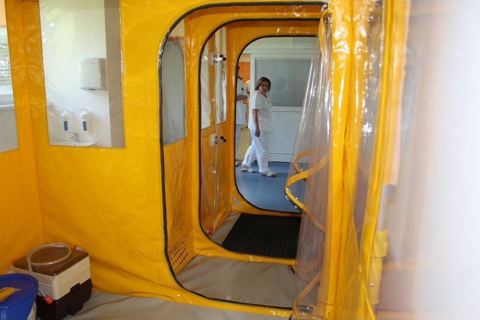 Infekční oddělení v havířovské nemocnici. Biobox.