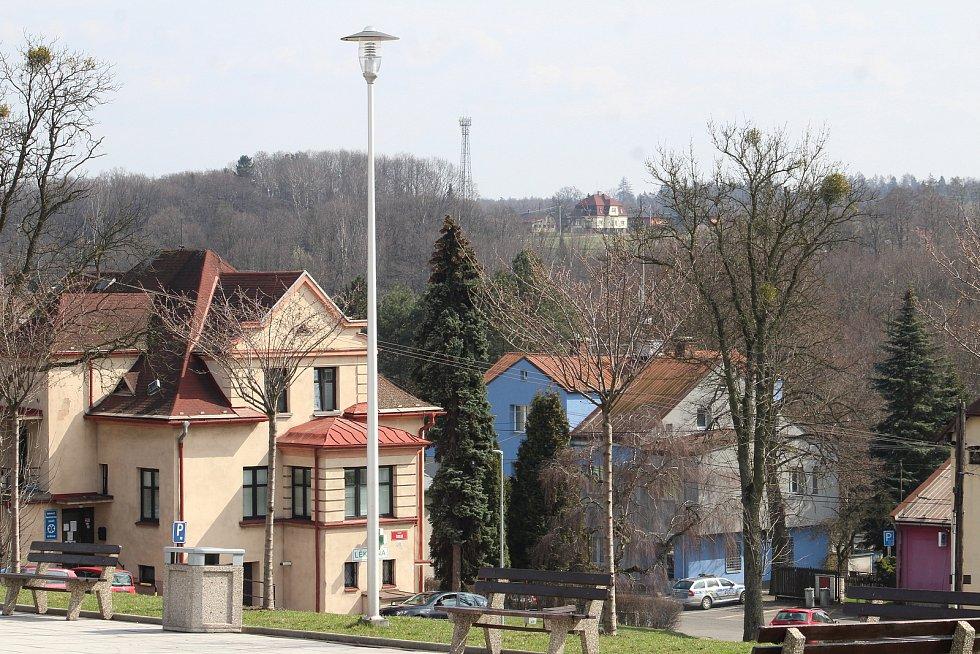 Petřvald. Pohled na město od radnice.