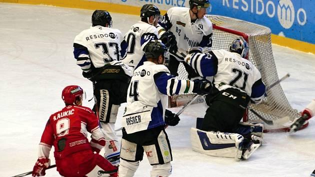 AZ Havířov (v bílém) - HC Frýdek-Místek.