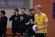 Volejbalové derby Havířov (v červeném) vs. Ostrava 1:3.