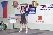 Vzpěračská soutěž v nadhozu TOP 12 v Havířově - Robert Dolega.