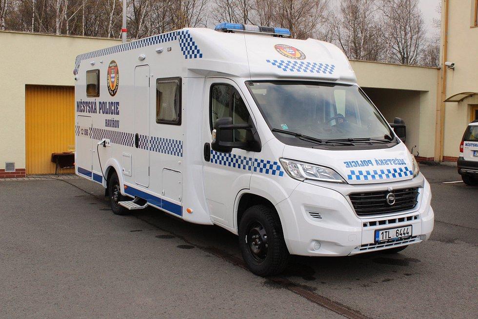 Mobilní služebna Městské policie v Havířově.