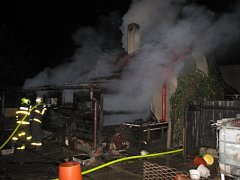 Požár hospodářského stavení v Orlové.